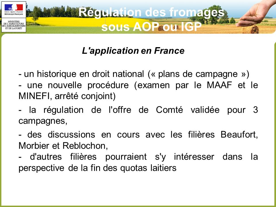 L application en France