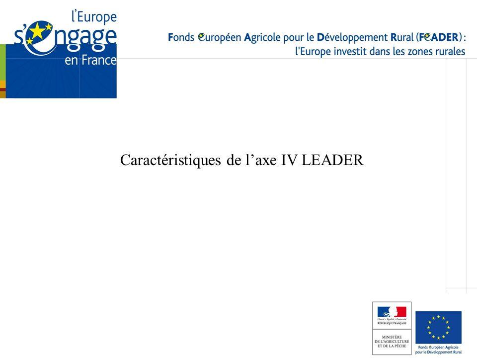 Caractéristiques de l'axe IV LEADER
