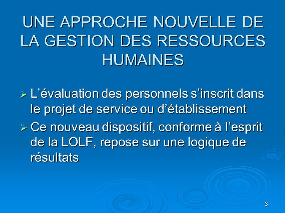 UNE APPROCHE NOUVELLE DE LA GESTION DES RESSOURCES HUMAINES