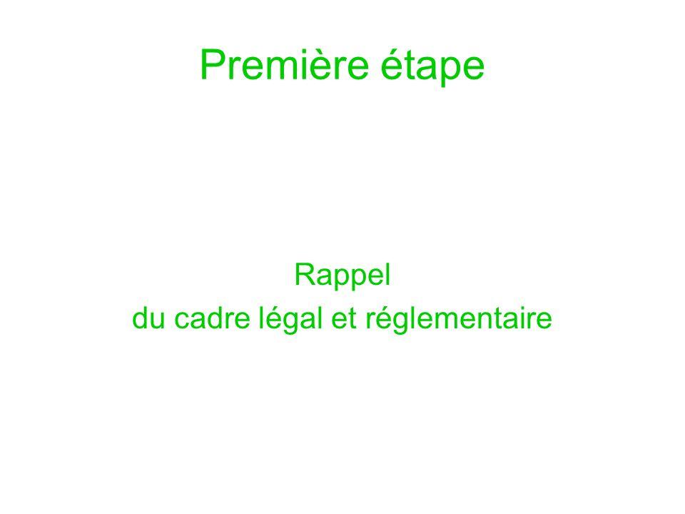 du cadre légal et réglementaire