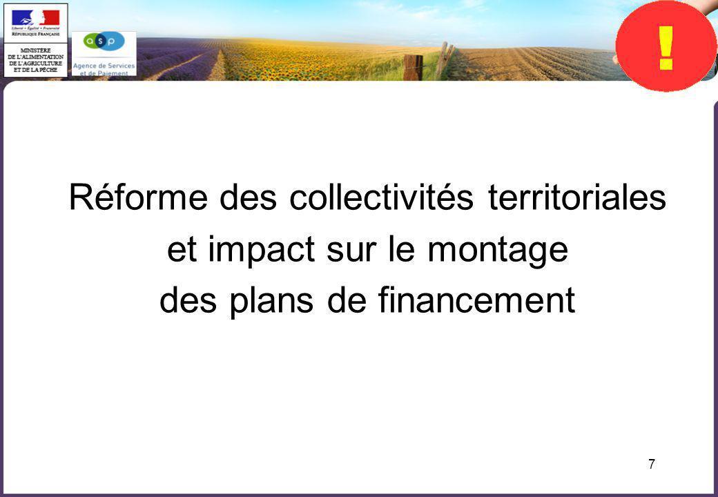 Réforme des collectivités territoriales et impact sur le montage