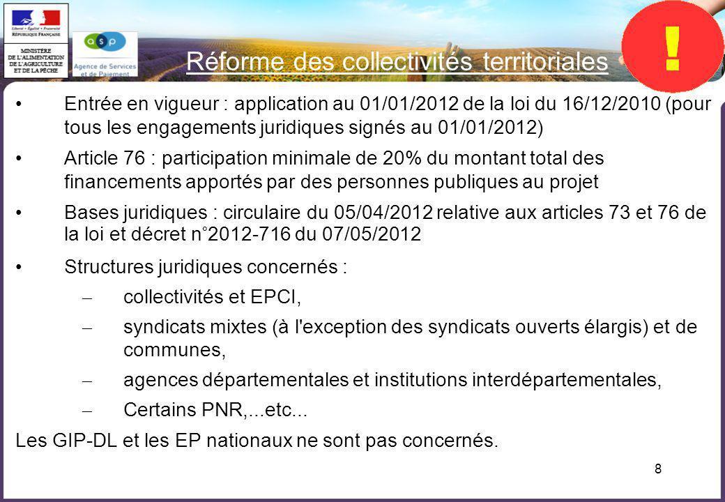 Réforme des collectivités territoriales