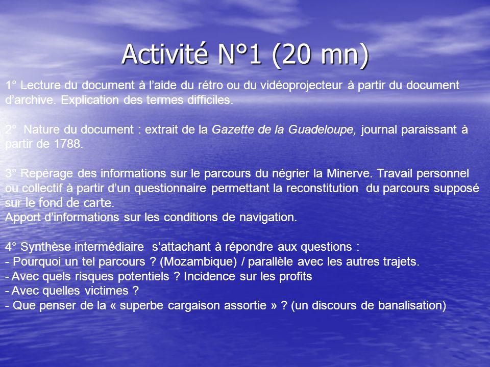 Activité N°1 (20 mn)