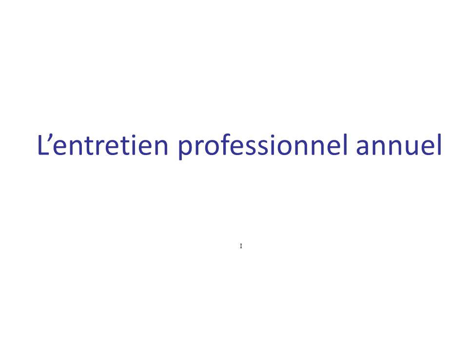 L'entretien professionnel annuel