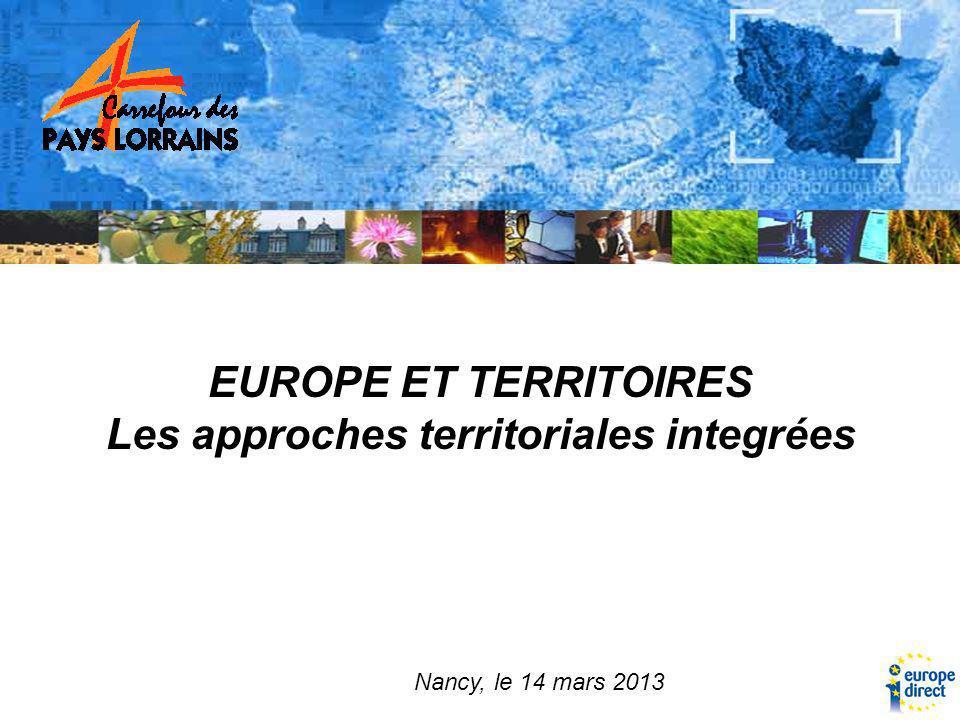 EUROPE ET TERRITOIRES Les approches territoriales integrées