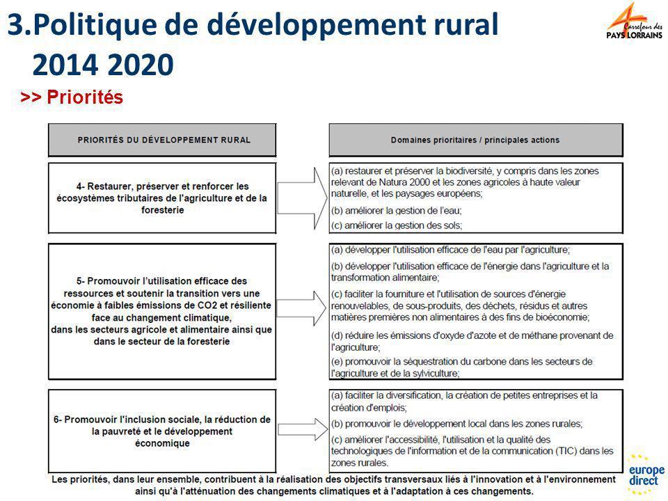Politique de développement rural 2014 2020