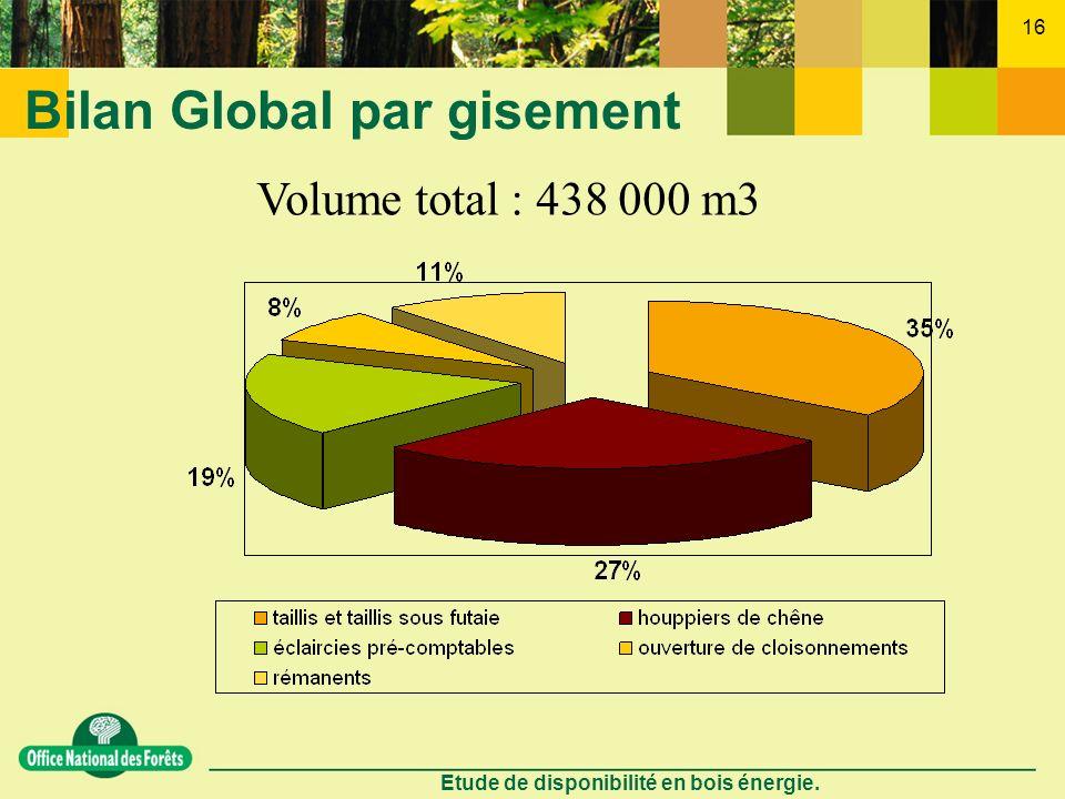 Bilan Global par gisement