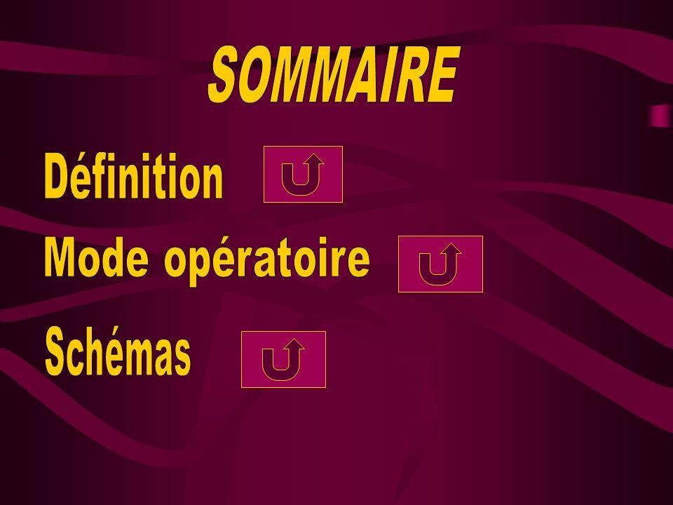 SOMMAIRE Définition Mode opératoire Schémas