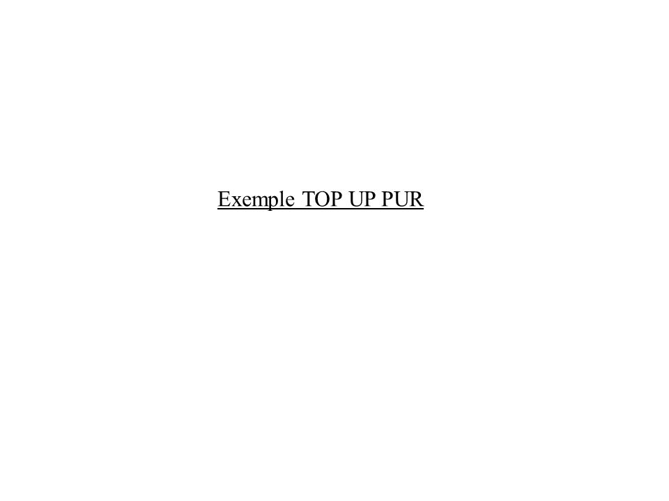 Exemple TOP UP PUR
