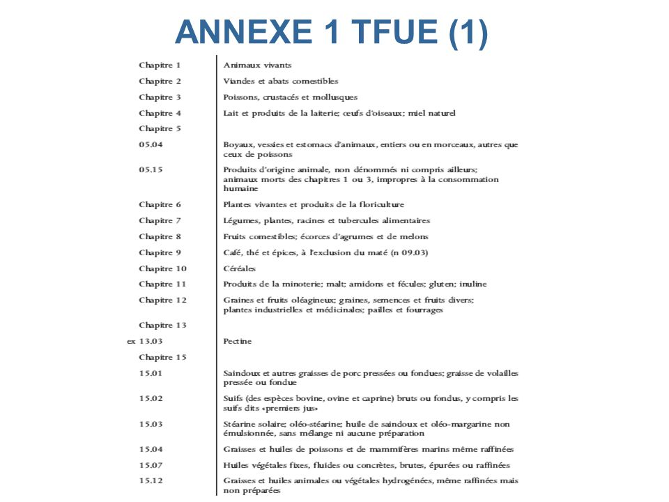 ANNEXE 1 TFUE (1)