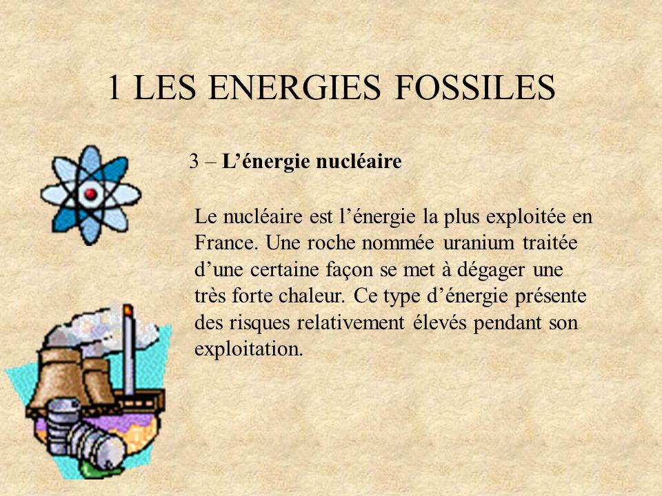1 LES ENERGIES FOSSILES 3 – L'énergie nucléaire