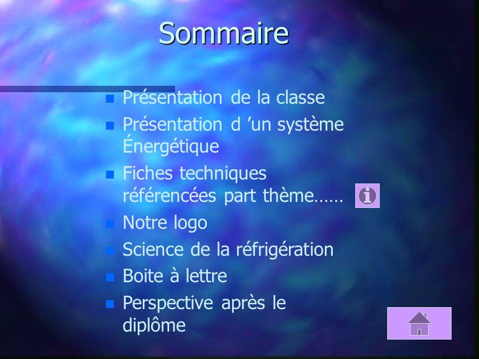 Sommaire Présentation de la classe