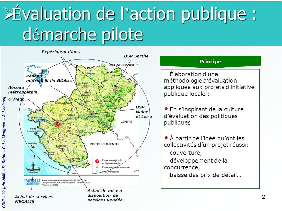 Évaluation de l'action publique : démarche pilote