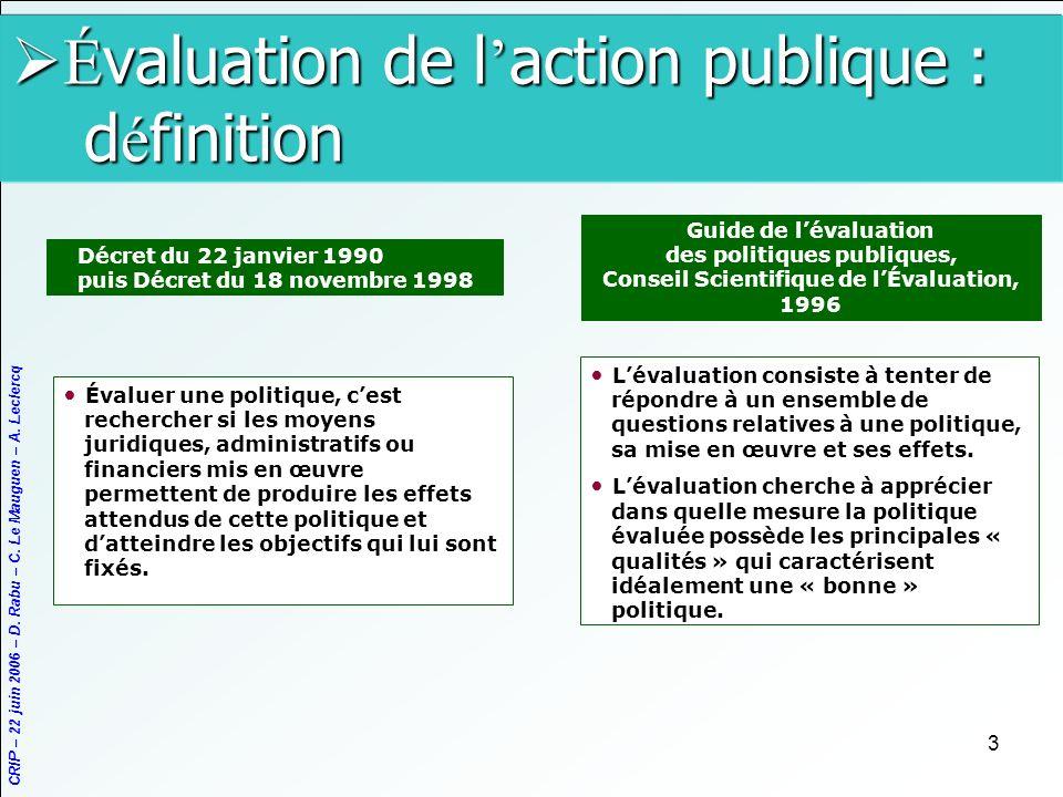 Évaluation de l'action publique : définition