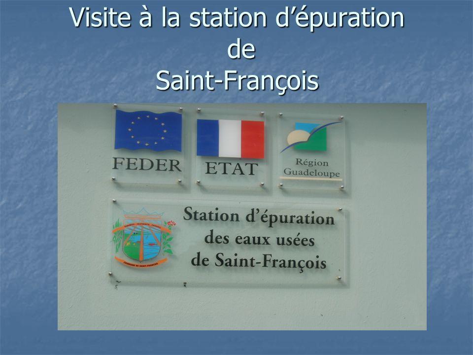 Visite à la station d'épuration de Saint-François