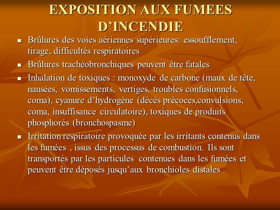 EXPOSITION AUX FUMEES D'INCENDIE