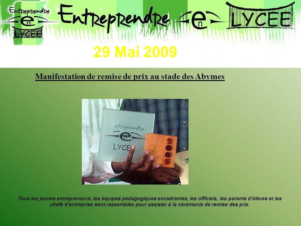 29 Mai 2009 Manifestation de remise de prix au stade des Abymes