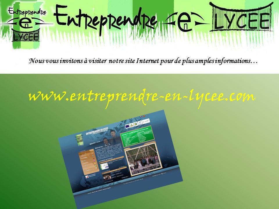 Nous vous invitons à visiter notre site Internet pour de plus amples informations…