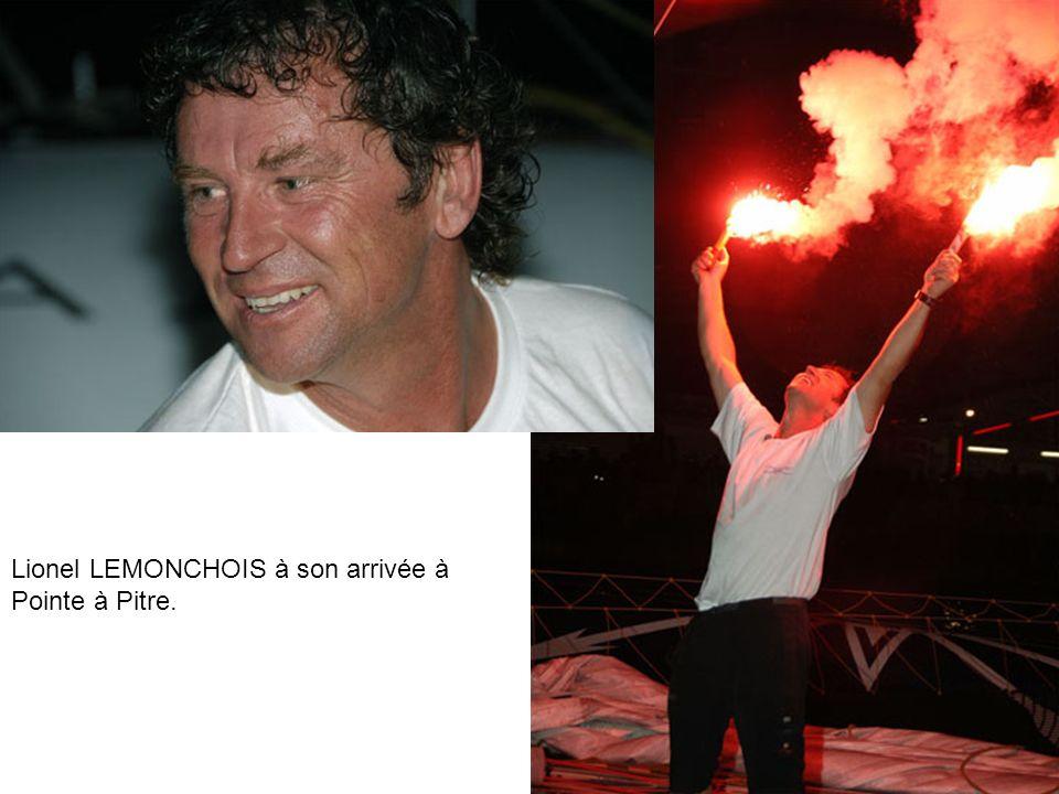 Lionel LEMONCHOIS à son arrivée à Pointe à Pitre.