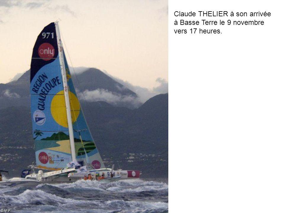 Claude THELIER à son arrivée à Basse Terre le 9 novembre vers 17 heures.
