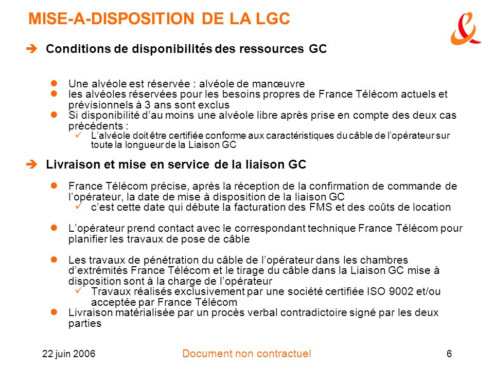 MISE-A-DISPOSITION DE LA LGC
