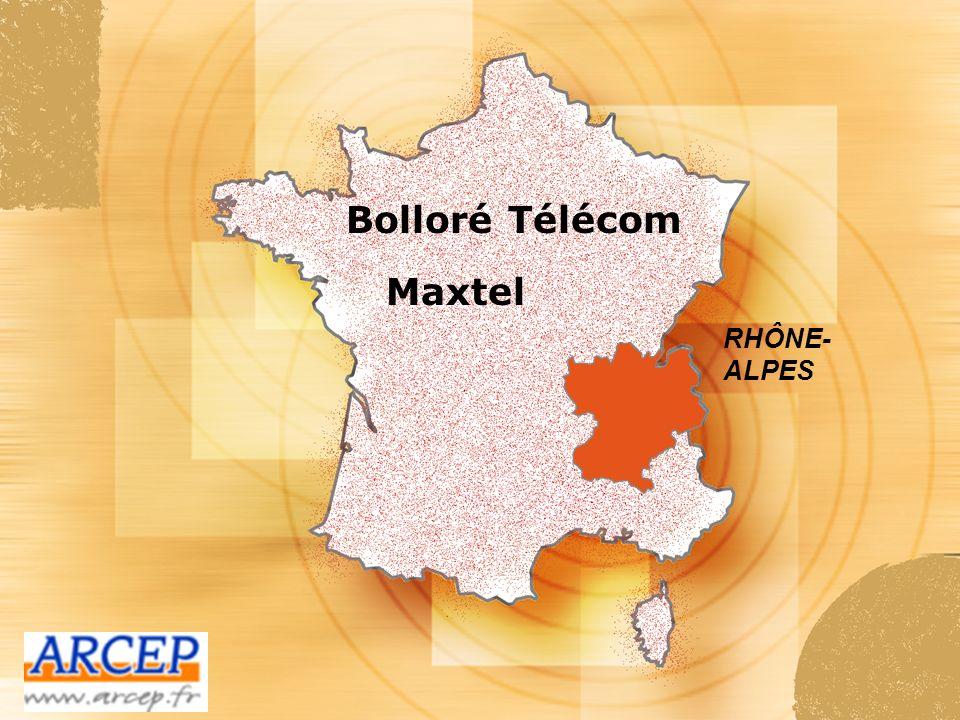 Bolloré Télécom Maxtel RHÔNE-ALPES