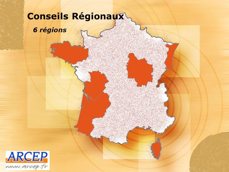 Conseils Régionaux 6 régions