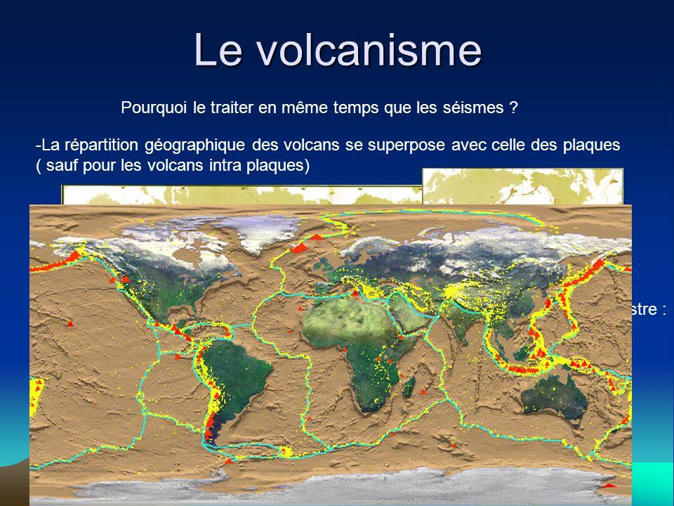 Le volcanisme Pourquoi le traiter en même temps que les séismes