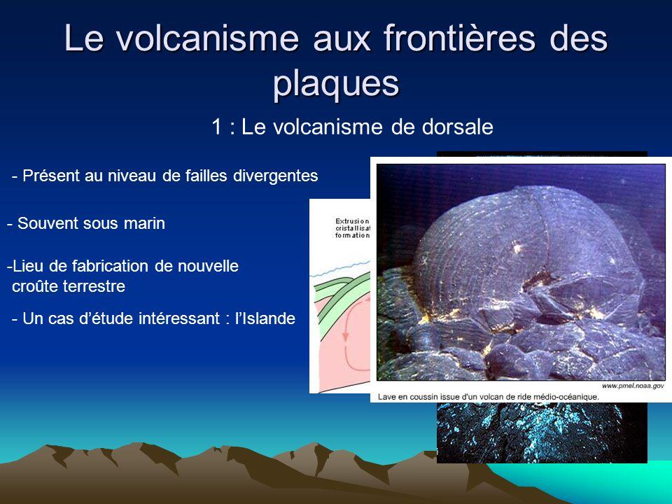 Le volcanisme aux frontières des plaques