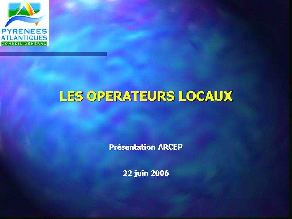 LES OPERATEURS LOCAUX Présentation ARCEP 22 juin 2006