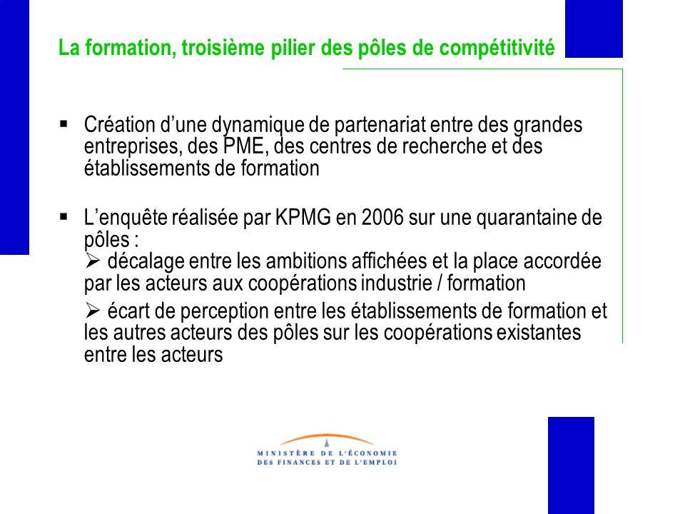 La formation, troisième pilier des pôles de compétitivité