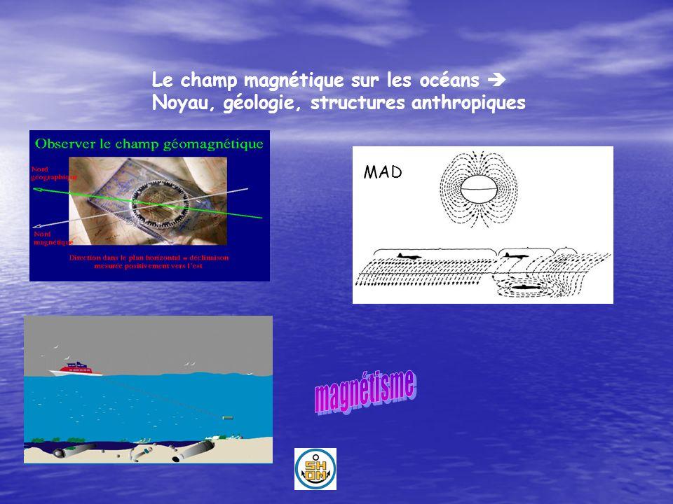 Le champ magnétique sur les océans 