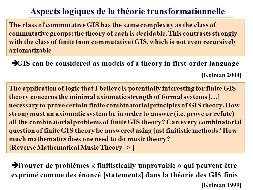 Aspects logiques de la théorie transformationnelle