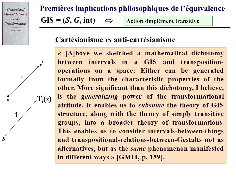 Premières implications philosophiques de l'équivalence
