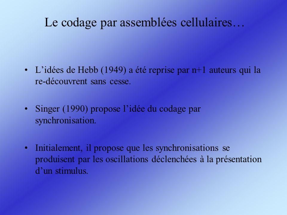 Le codage par assemblées cellulaires…