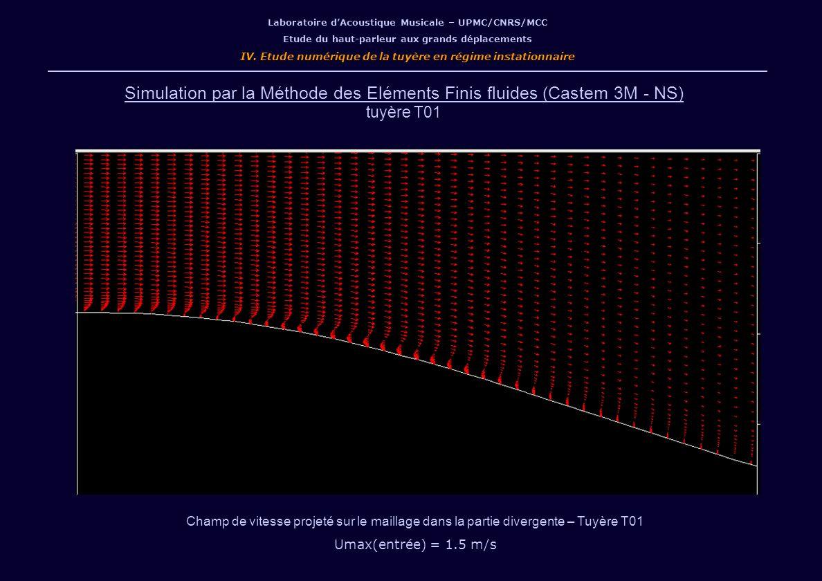 Simulation par la Méthode des Eléments Finis fluides (Castem 3M - NS)