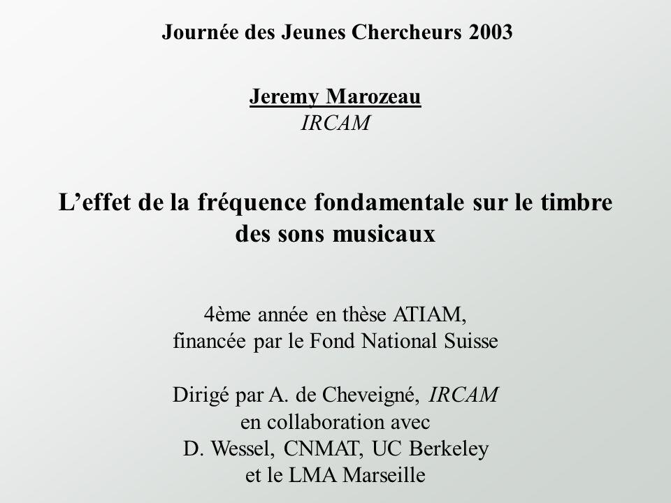 L'effet de la fréquence fondamentale sur le timbre des sons musicaux