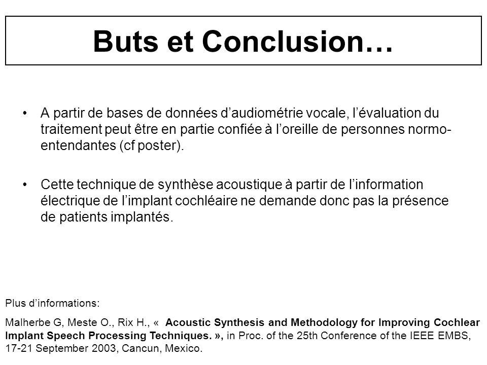 Buts et Conclusion…