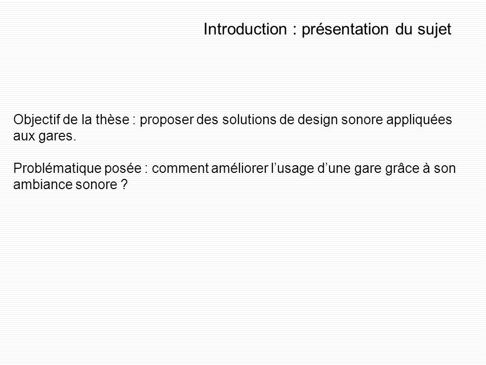 Introduction : présentation du sujet