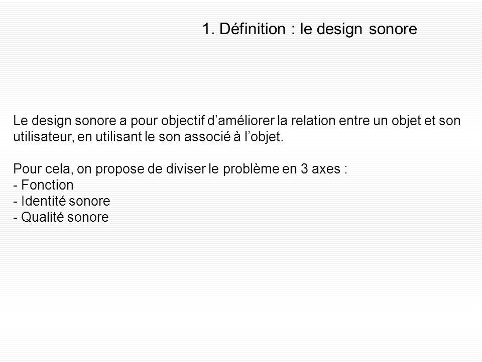 1. Définition : le design sonore