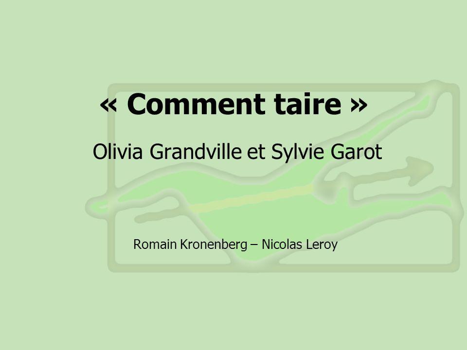 Olivia Grandville et Sylvie Garot
