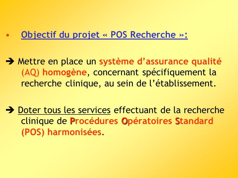 Objectif du projet « POS Recherche »:
