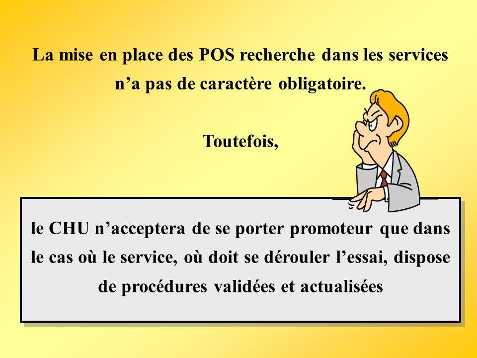 La mise en place des POS recherche dans les services n'a pas de caractère obligatoire.