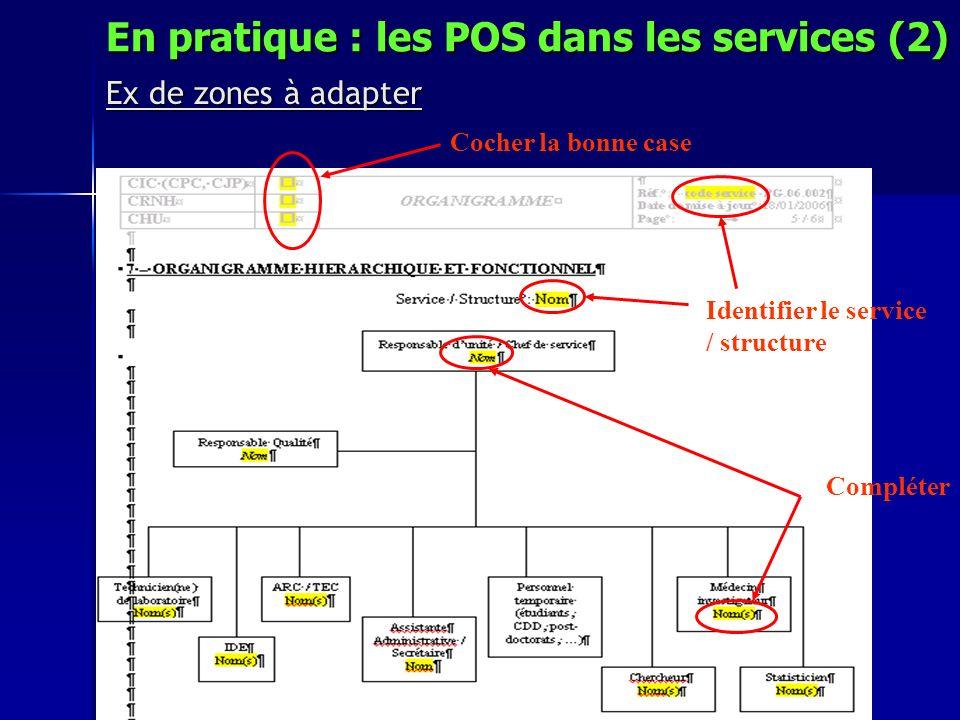En pratique : les POS dans les services (2)