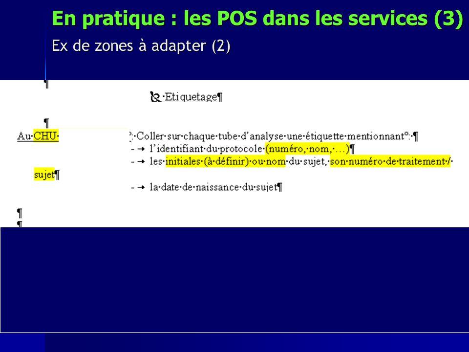 En pratique : les POS dans les services (3)