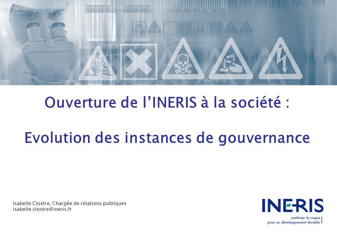 Ouverture de l'INERIS à la société :