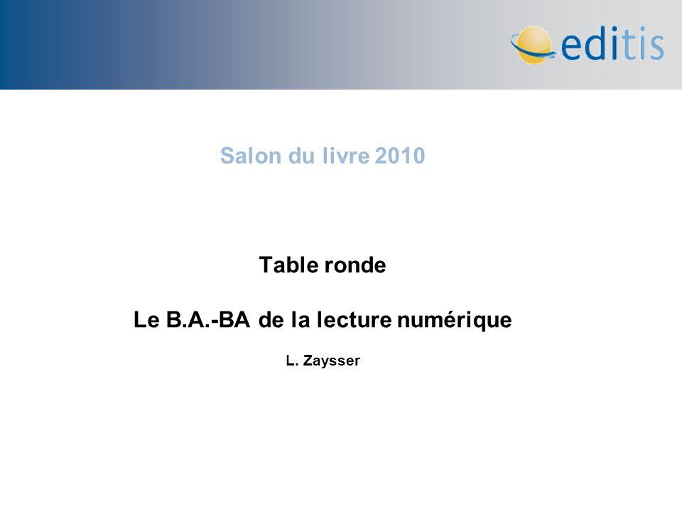 Table ronde Le B.A.-BA de la lecture numérique L. Zaysser