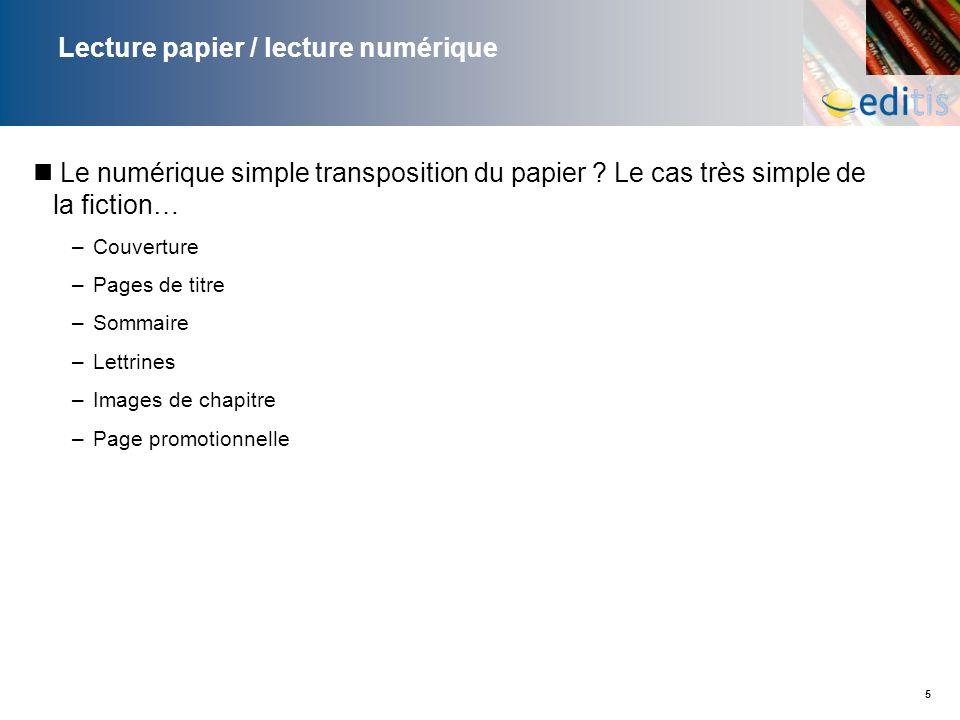 Lecture papier / lecture numérique