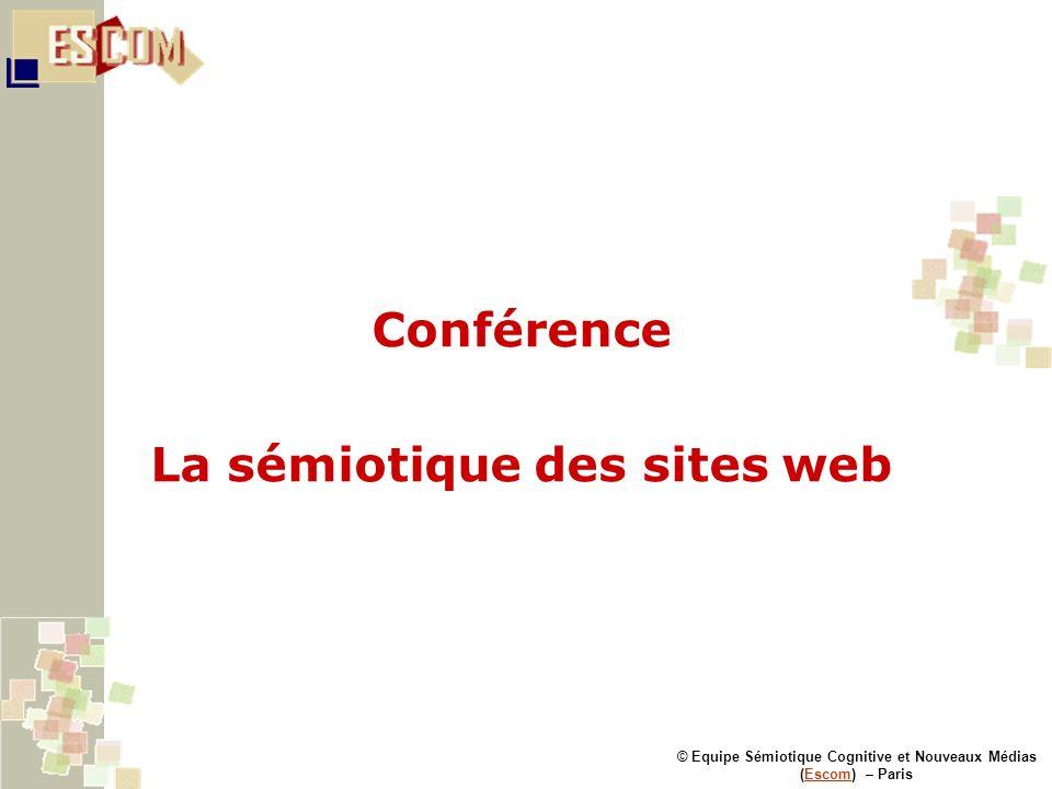 Conférence La sémiotique des sites web