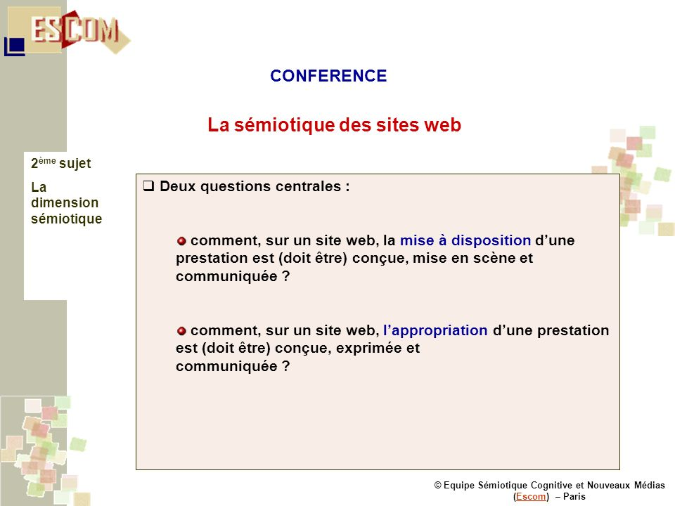 La sémiotique des sites web